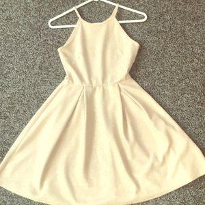 Gold Halter top dress